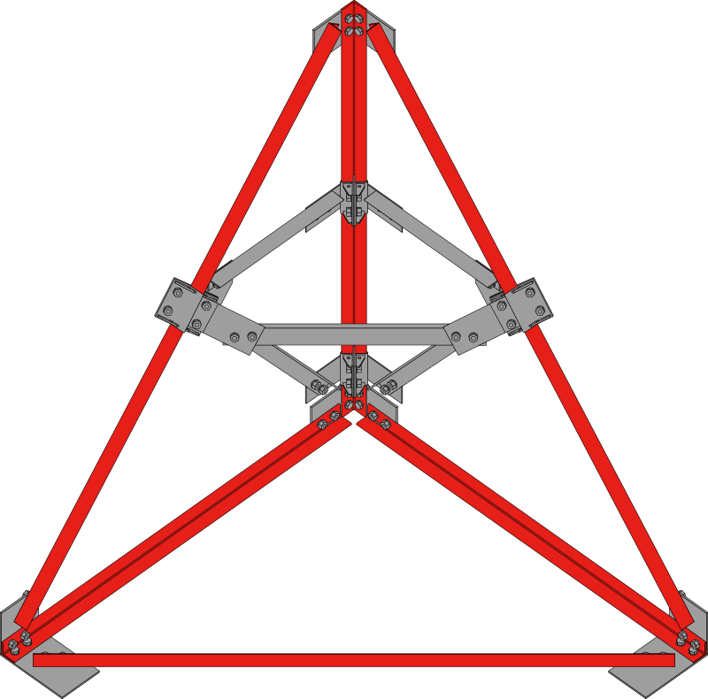 Enhance the reinforcement effect by adding the truss structure.
